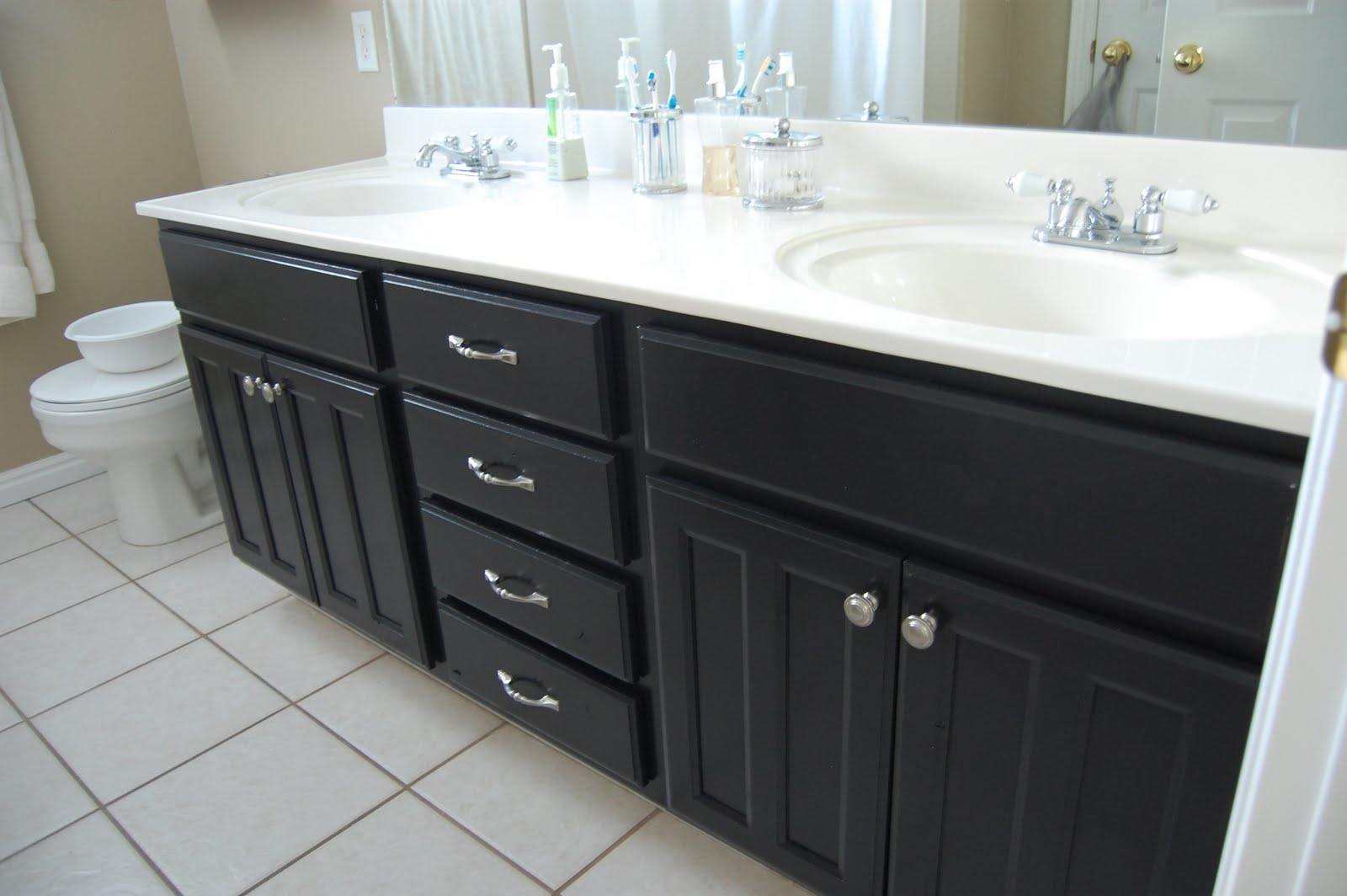 Marvelous Black Bathroom Vanities With Large Vanity Derektime Design Granite Tops Denver For